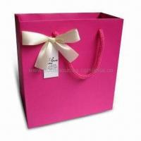 Buy cheap Retail Paper Bag with Ribbon Handle, Suitable for Garments, Measures 40 x 30 x from wholesalers