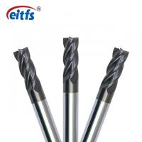 Wholesale 4 Flute Square End Mill Cutter , Metal Cutting End Mills HRC55 Flat Relief Angle from china suppliers