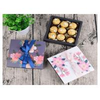 Flowers Chocolate Custom Paper Gift Box Colorful Cardboard Sliding Drawer