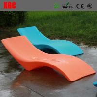 Hard Plastic Single Outdoor Patio Lounge Chairs / Chaise Lounge Pool  Furniture Images