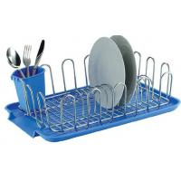 China Item NO.DHW11001 Dish drying rack with plastic utensil holder and tray holder kitchen used for dish drying for cup wholesale