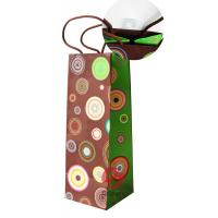Wholesale Wine Bottle, Christmas Gift, Art Paper 4 color printed Coloured Paper Bags With Handles from china suppliers
