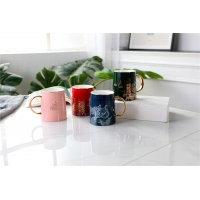 Wholesale Colour Glazed 0.4L Sublimation  Campfire Fine Porcelain Coffee Mugs from china suppliers