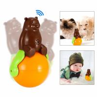 Wholesale Pet Tumbler Toy music tumbler toy shaking around pet bear funny tumbler dog cat toys from china suppliers