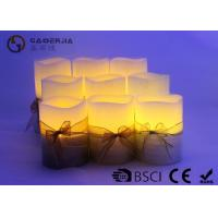 Wholesale 3pk LED candle Flameless Candle Christmas candle painting with silkribbon from china suppliers