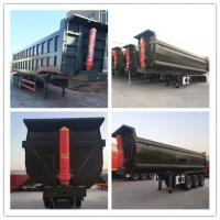 Wholesale Cargo Transportation Side Dump Semi Trailer 3 Axles 60 Ton Hydraulic from china suppliers