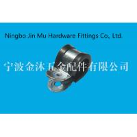 Wholesale Round Head Type Cable Hose Clamp With Rubber 9 mm / 12 mm / 25 mm Bandwidth from china suppliers