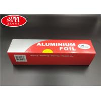 Wholesale Standard Quality Household Aluminum Foil Paper Aluminum Foil Roll 30cm 100m in big color box from china suppliers