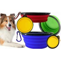 Wholesale Fancy Soft Silicone Pet Supplies Food Pet Cat Dog Bowl Feeder 175*130*73mm from china suppliers