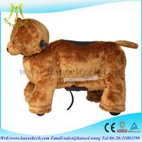 China Hansel electric ride on coin operated plush animals toy machine on sale