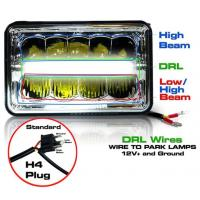 Wholesale 5 Inch 45W LED Headlights Jeep Wrangler Hi / Low Beam Square Waterproof from china suppliers
