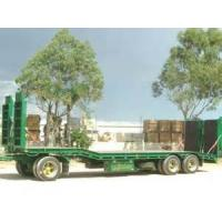 Wholesale 60T Cargo Semi Trailer Truck , Low Loader Semi TrailerWith Air Suspension from china suppliers
