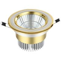 Gold Aluminum COB LED Downlight With CE ROHS /2 YEAR Warranty