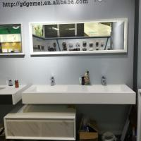 Wholesale Modern Bathrooms Double Bowl Wall Hung Basin Bathroom Vanity Sink from china suppliers