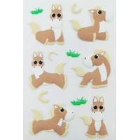 Wholesale Personalized Farm Animal Stickers , Promo Horse Shape Small 3d Stickers from china suppliers