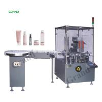 China Automatic Square Bottle Vertical Cartoning Machine With Hot Melt Glue Customized Voltage on sale