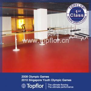 Indoor Sports Court Floor Red PVC Gym Floor