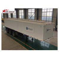 Wholesale 3 Axles Van Truck Flatbed Container Trailer With ABS Brake System from china suppliers