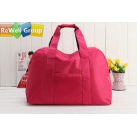 Wholesale Pink Polyester Folding Bag Sports Trolley Bags Hand - Held Bag from china suppliers