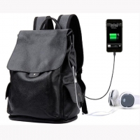 Wholesale Men'S First Layer Cowhide Business Laptop Backpack With USB from china suppliers