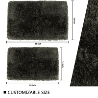 Wholesale Long Pile 60x80cm Latex Backed Bath Mats Quick Dry Shower Mat from china suppliers