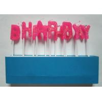 China Glittering Pink Letter Birthday Candles Molded Toothpick for Cakes Decoration wholesale