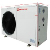 Freestanding Electric Air Source Heat Pump Galvanized Steel Sheet Compact Structure