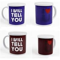 Wholesale Heat Sensitive Reusable Coffee Cup Custom Magic Mug White AB Grade from china suppliers