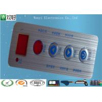 Wholesale Waterproof Membrane Switch Touch Panel Overlay Red Window Silver Contact Pad from china suppliers