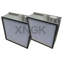 Buy cheap Rigid HEPA Filter With Aluminum Separator Galvanized Steel Frame Clean Room from wholesalers