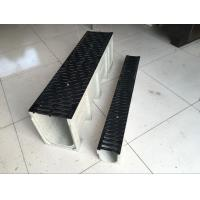 Wholesale 20years be used stone colour Polymer Drain Trench (1000*250*205mm)for Square and Station etc with black ductile Cover from china suppliers