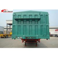 Quality Steel 60T Side Wall Trailer , High Intension Trailer With Folding Sides for sale