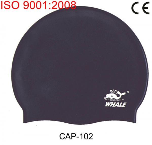 Black Waterproof Silicone Swimming Caps Caps Swimming Pool Fashionable Silicone Swim Cap For