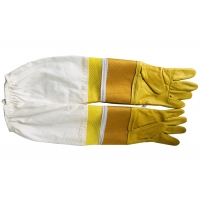 Wholesale #33 Goat skin yellow thick canvas wrist protector and Half  Ventilated with white cloth sleeve from china suppliers