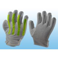 Wholesale Interlock Finger Reflective Gloves For Directing Traffic , Cotton Hand Gloves Velcro Type from china suppliers