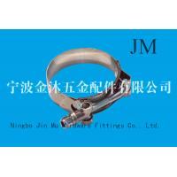 Wholesale Forged Steel T Bolt Hose Clamp Industrial Spring Type , 0.7mm Thickness from china suppliers