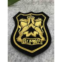 Eco Friendly Bullion Wire Badges For Garment , Hand