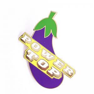 Wholesale Eggplant Shape Hard Enamel Lapel Pins Custom Size With Epoxy Coating from china suppliers