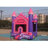 Wholesale 3In1 High Tear Strength Pink Inflatable Jump House with basket hoop for SchoolLobbies from china suppliers