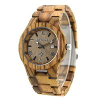 China Waterproof Custom Men Wooden Watches With Miyota Japanese Movement , Natural Wood Color on sale