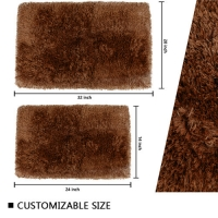 Wholesale Soft Plush Puffy Quick Dry Bathroom Mat OEKO-TEX from china suppliers