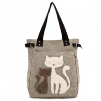 Wholesale Handled Personal Big Canvas Shopper Bag With Zip from china suppliers