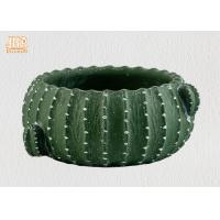 Wholesale Cactus Shaped Flower Pots Mini Plant Pots Cement Pot Planters Green Color Succulents Pot from china suppliers