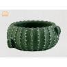 Buy cheap Cactus Shaped Flower Pots Mini Plant Pots Cement Pot Planters Green Color from wholesalers