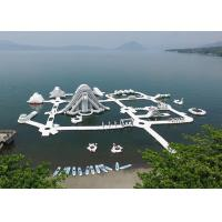 China Lake Inflatable Floating Water Park Equipment , Inflatable Water Games on sale