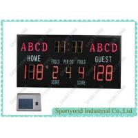 Electronic High School Basketball Scoreboard With Single Face Led Digital Display