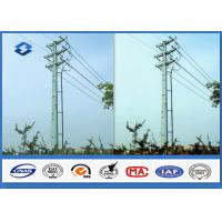 Quality Q345 Hot dip galvanized Electrical Power Pole with 16M ~ 20M Height 470 ~ 630 Mpa Tensile Strength for sale