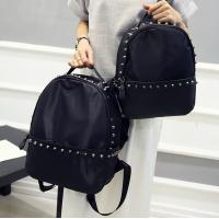 Wholesale Rivet new Korean women shoulder bag nylon oxford fabric with leather travel bag College Wind Leisure from china suppliers