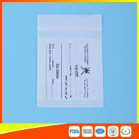 Wholesale Dust Proof Transparent Zip Lock Bag For Pill Packaging , Disposable Pill Pouches from china suppliers