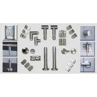 Wholesale Bathroom Toilet Cubicle Hardware Cubicle Partition Accessories Stainless Steel For WC from china suppliers